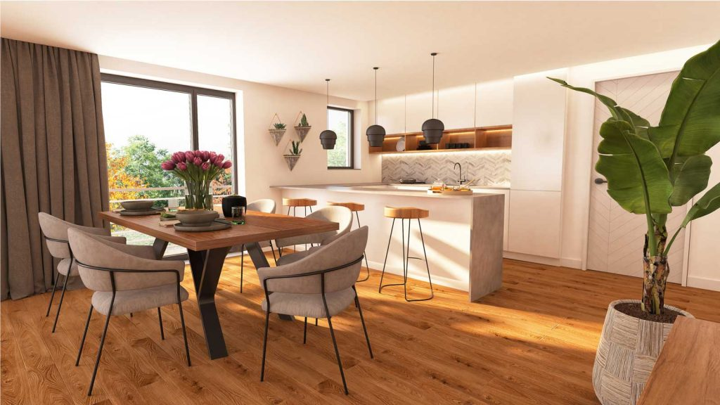 lp-wohnbau innen Küche